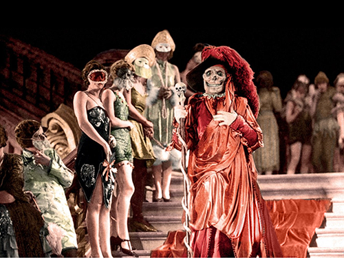 Red Death in the Masquerade Ball scene in The Phantom of the Opera