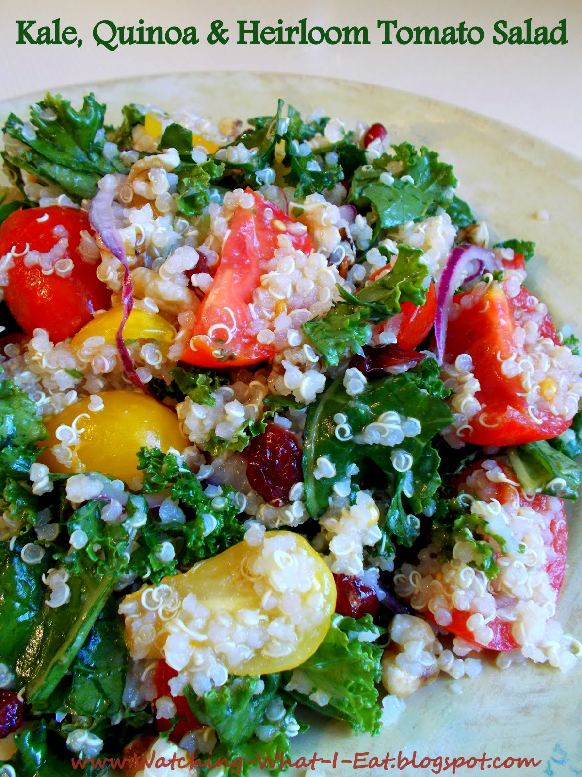 ... What I Eat: Kale, Quinoa and Heirloom Tomato Salad ~ Meatless Monday