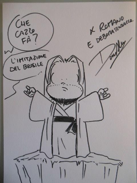 Sketch con dedica di Don Alemanno