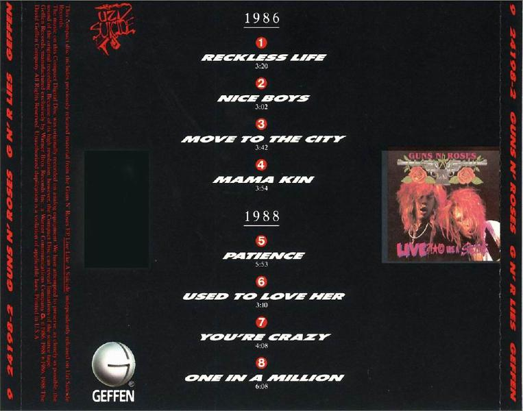 guns n roses album like a suicide 19861988