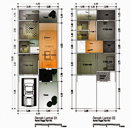 Gambar Denah Desain Rumah Minimalis Modern 2 Lantai Pilihan 2017/2018