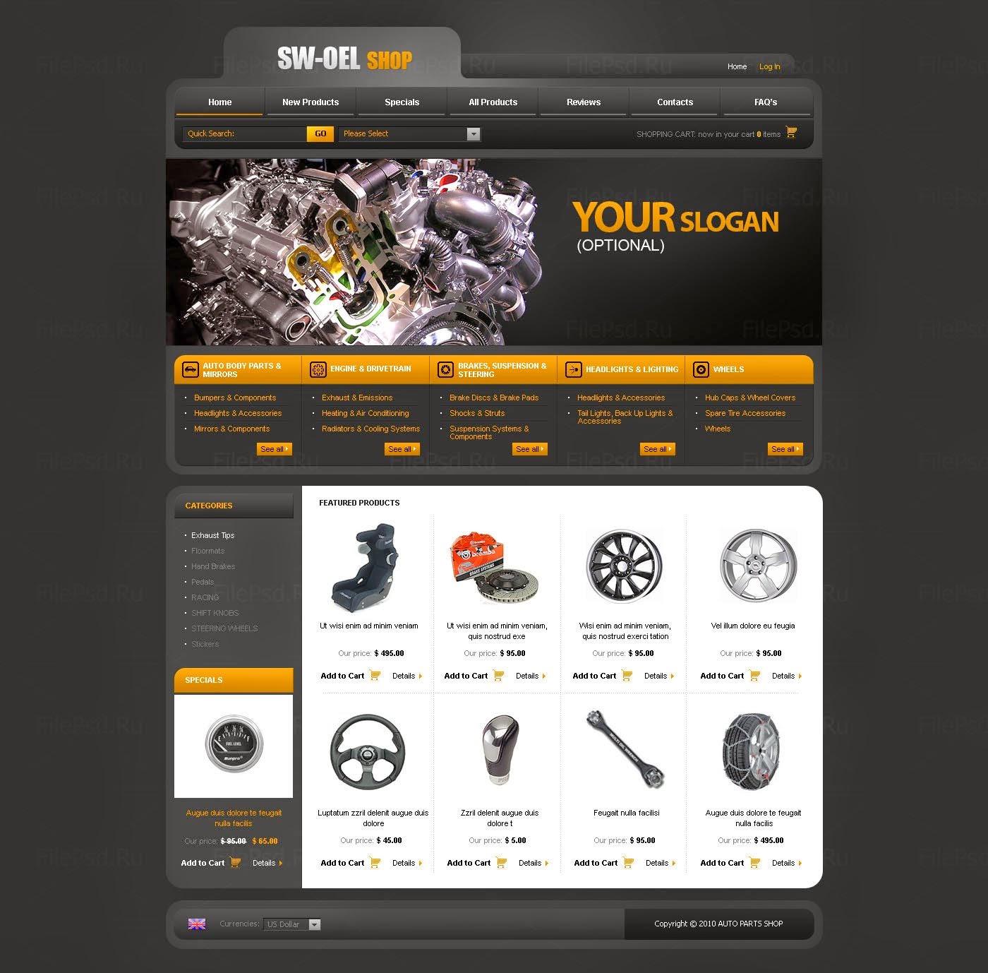thiết kế website bán phụ tùng giá rẻ