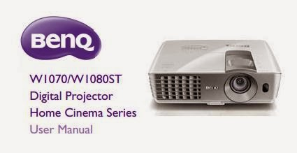 BenQ W1070 Projector Manual Cover