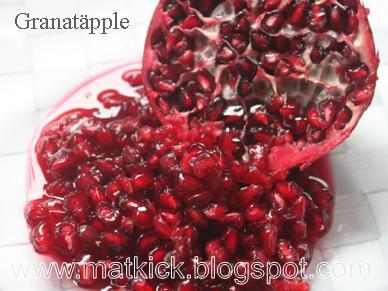antal kärnor i granatäpple