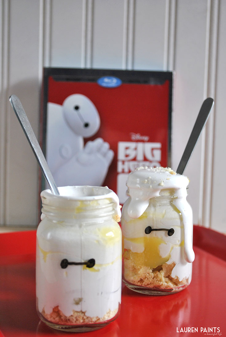 Big Hero 6 + My Mini Baymax in a Jar Honey-Lemon Meringue Pie Recipe