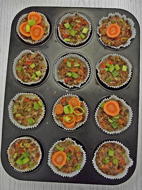 Muffinki z kaszy gryczanej ze szczypiorkiem