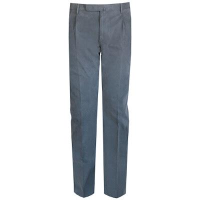 incotex slowear slim fit pleated cotton pants gray