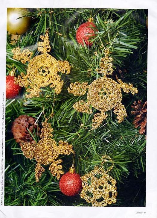 Patrones crochet - Ornamentos de navidad ...