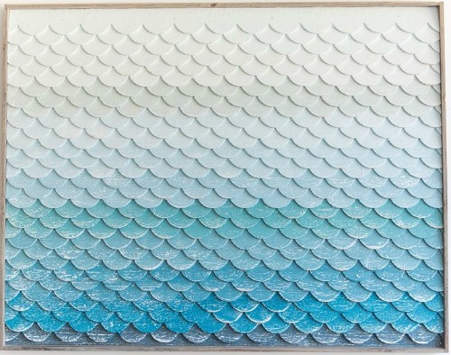 Amazing You can find beautiful Ocean Color Inspired pieces at Outer Banks Trading Group made from wood Or make your own fish scale wall art with the clever and