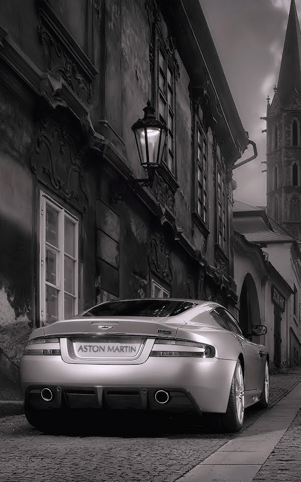 Black And White Aston Martin Back  Galaxy Note HD Wallpaper