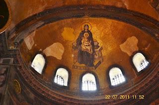 Basilica Santa Sofia Istambul - Virgem e o Menino