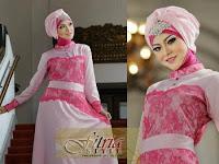Model Baju Gamis Batik Kombinasi Brokat 2015 Trendy