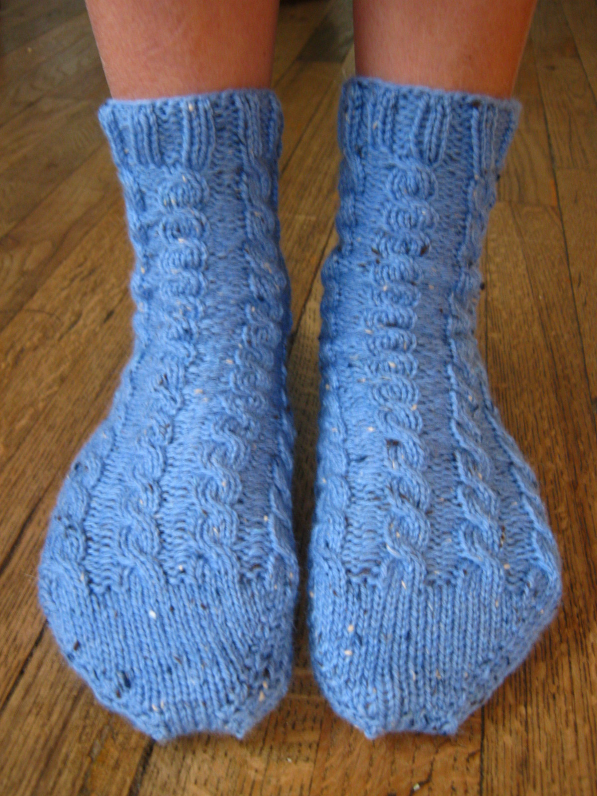 Holly Marie Knits New Free Pattern Toe Up Cabled Bed Socks