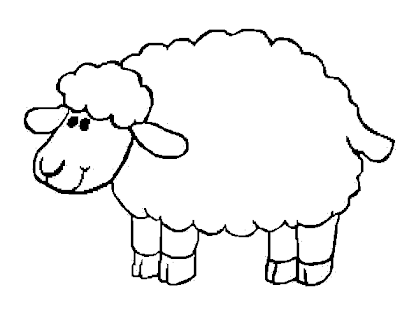 Sheep Template Coloring Pages