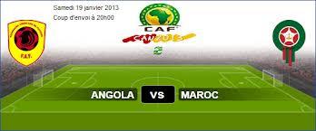 Une fois le match football entre les équipes Maroc et angola s'est ...