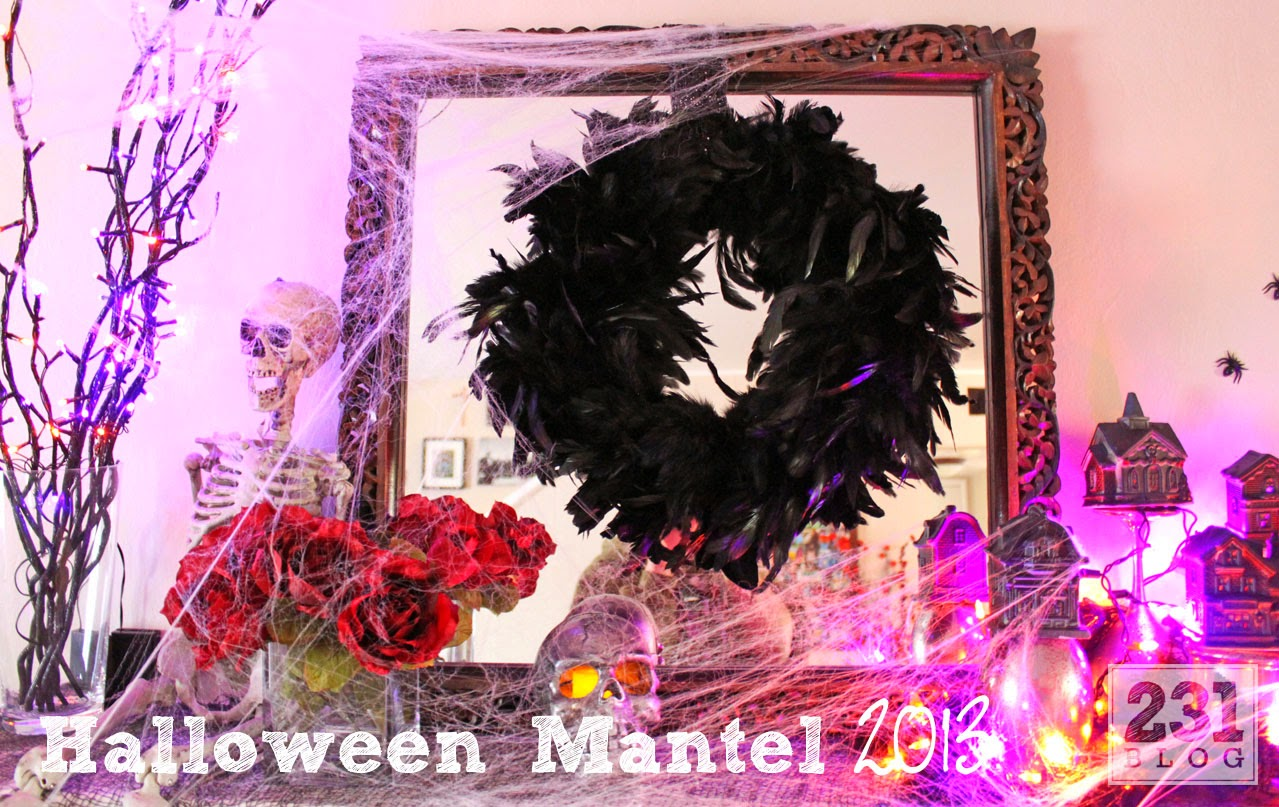 halloween mantel with diys from the dollar store