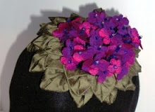 violet fascinator