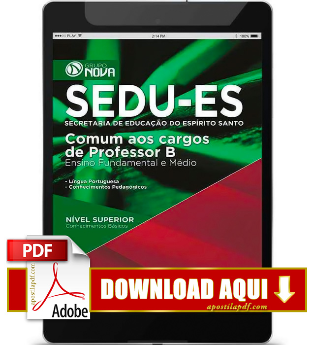 Apostila SEDU ES 2015 PDF Download Professor