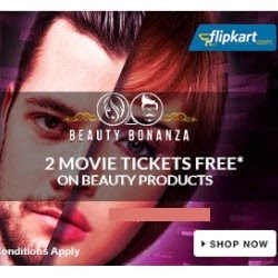 Flipkart Beauty Bonanza upto 80% off and Free Couple Movie Tickets on Rs.999