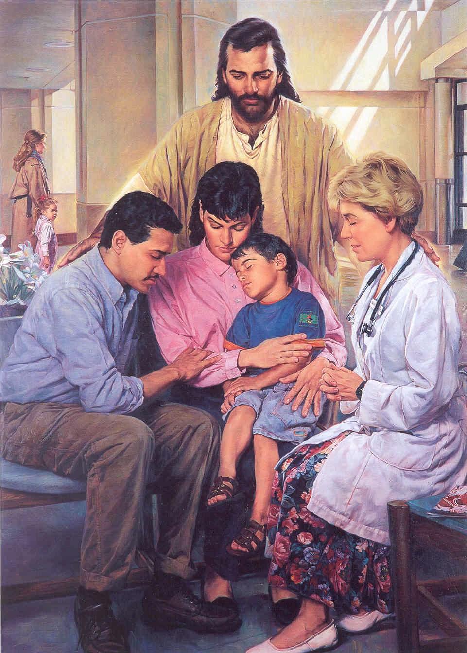 An evening family prayer