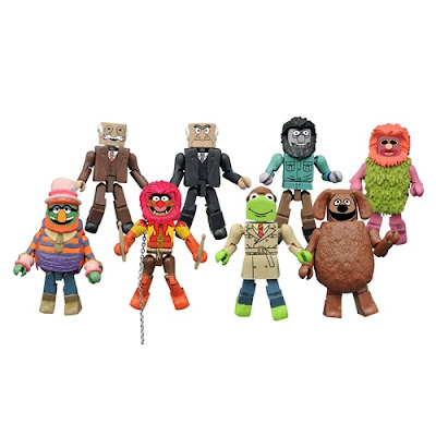 The Muppets Minimates Series 2 by Diamond Select Toys - Reporter Kermit the Frog, Rowlf, Dr. Teeth, Animal, Statler, Waldorf, Crazy Harry & Mahna Mahna