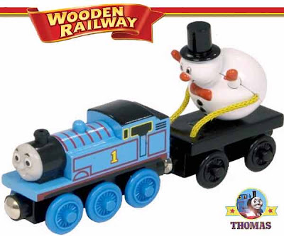 Model train Thomas and his Friends Wooden Railway Thomas and the Snowman Toy special Xmas gift cargo