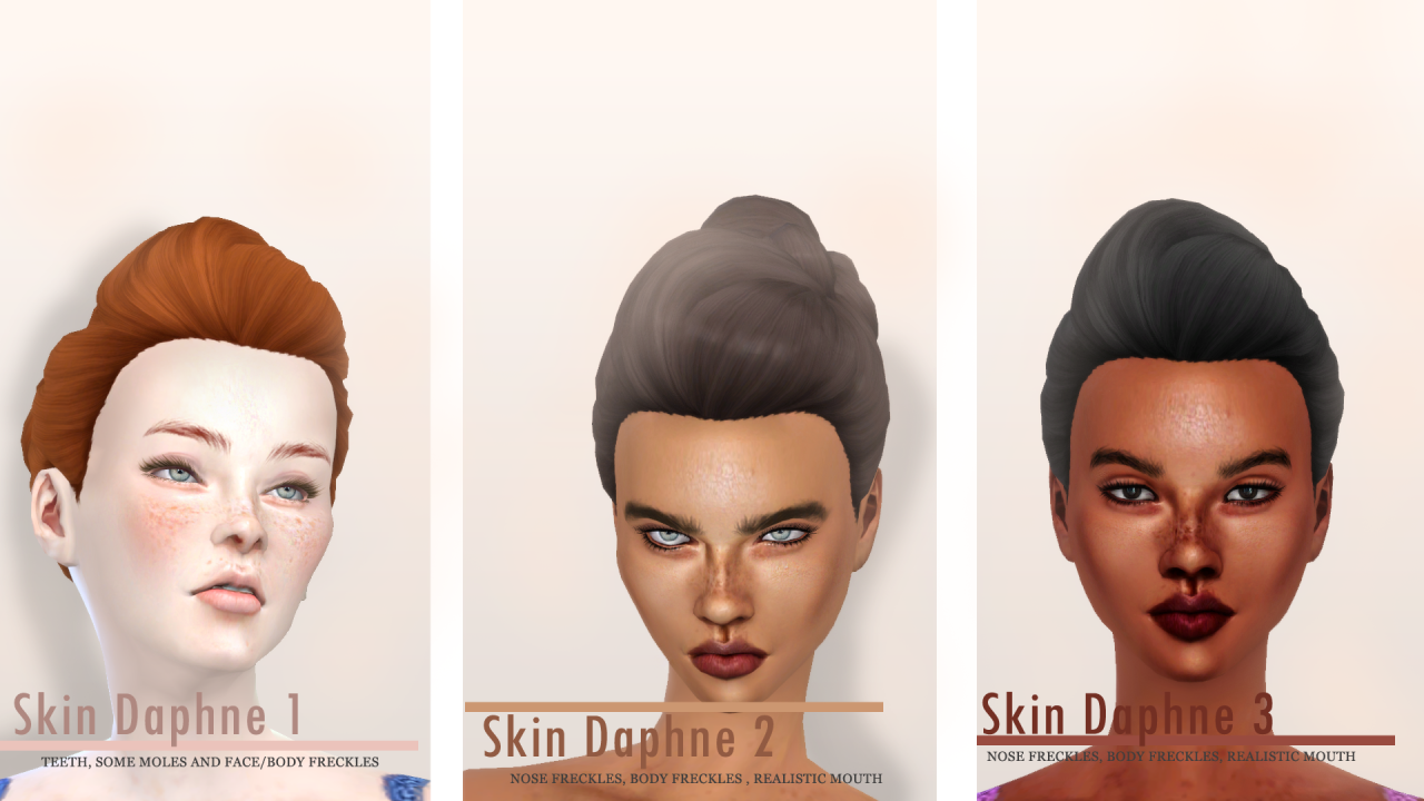 My sims 4 blog daphne skin for females by charactersassims