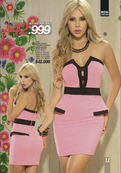 vestido strapless carmel c-16-14