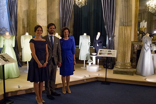 Prince Carl Philip And Princess Sofia Attended The Inauguration Of The 'The Lilian Look' Exhibition