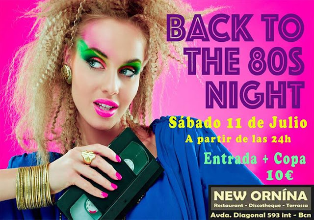Flyer Fiesta Back To The 80s Night