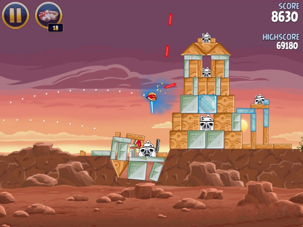 Angry Birds Star Wars Game Screenshot