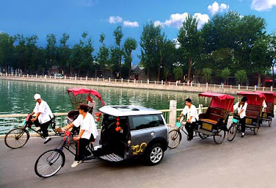 Foto Becak Mini Cooper