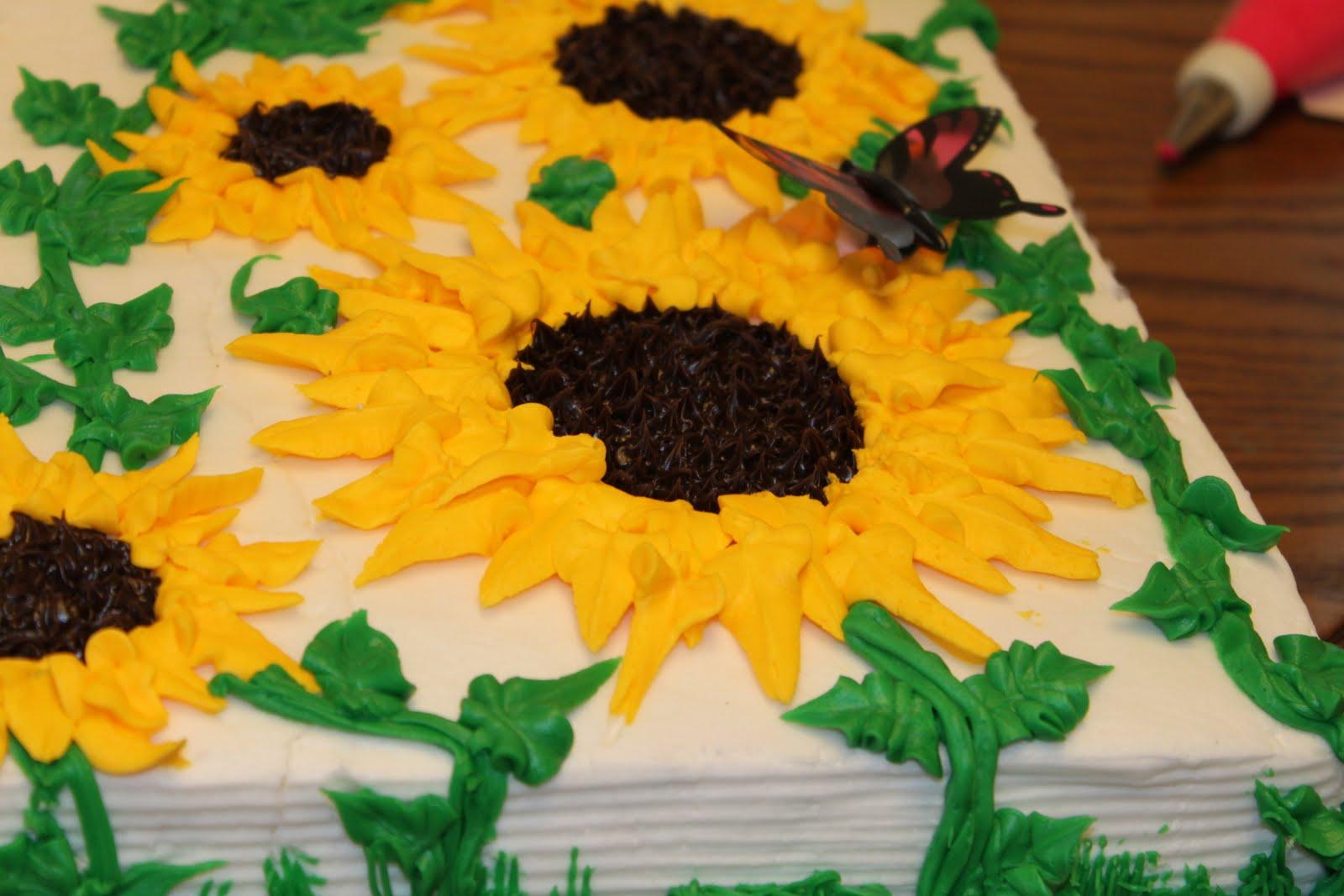 Vanessa's Cake Designs: Sunflower Cake