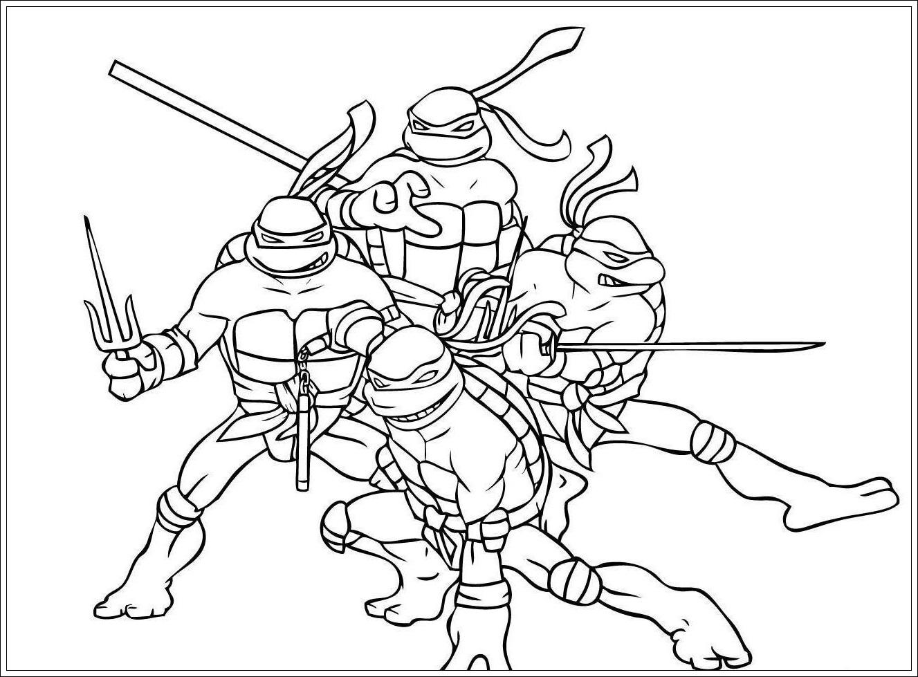 Ausmalbilder Ninja Turtles Zum Drucken Ausmalbilderhq