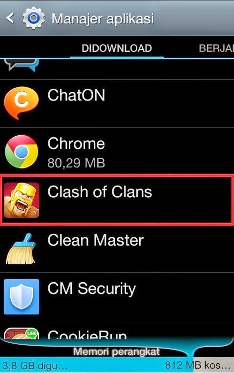Aplikasi Clash of Clans