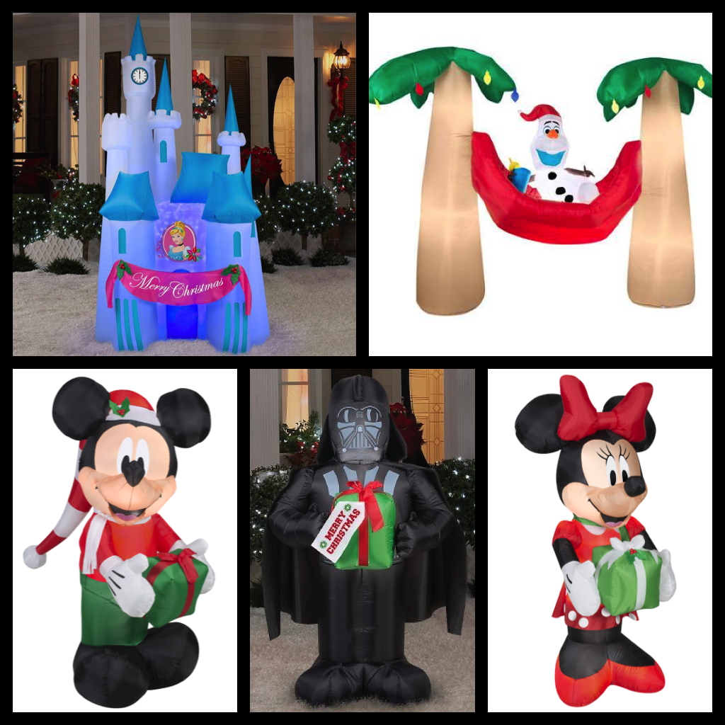 eliot and i are starting to think about our christmas decorations of course that includes our ever growing collection of inflatables - Disney Christmas Inflatables