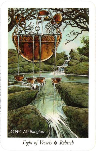 The Wildwood Tarot Eight of Vessels Rebirth