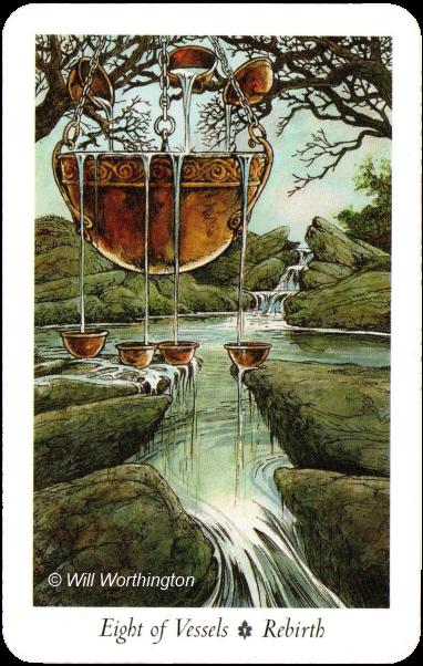 The Wildwood Tarot Eight of Vessels Rebirth
