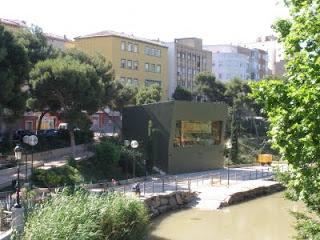 quiosco El Corazón Verde Canal Imperial de Aragón Zaragoza