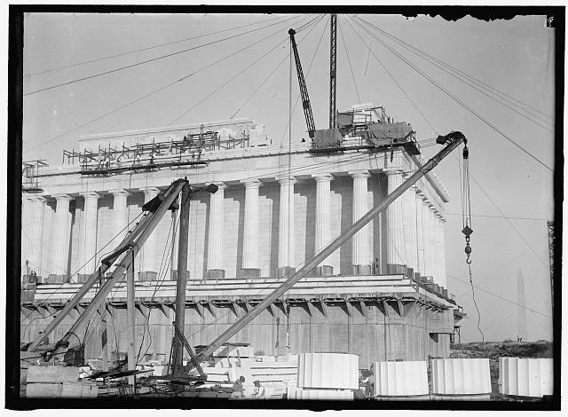 lincoln memorial building clipart. lincoln memorial under construction building clipart