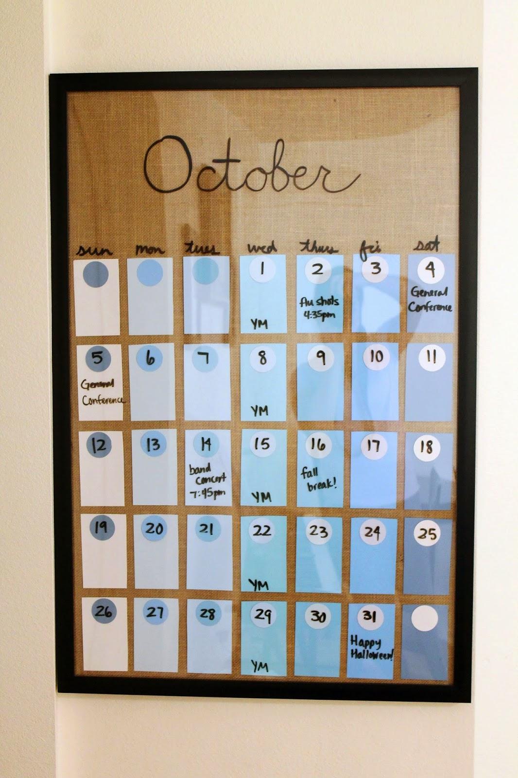 Diy Calendar Paint Chips : Silver lining diy paint chip calendar