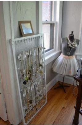 Crib Spring Necklace Storage