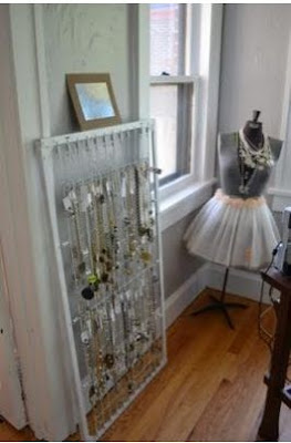 Crib Spring Necklace Storage