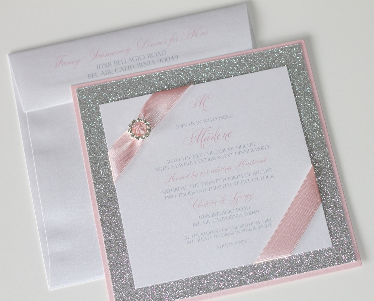 Embellished Paperie: Fancy Birthday Dinner Party Invitations