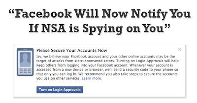 Facebook Will Notify You If NSA Is Spying On You