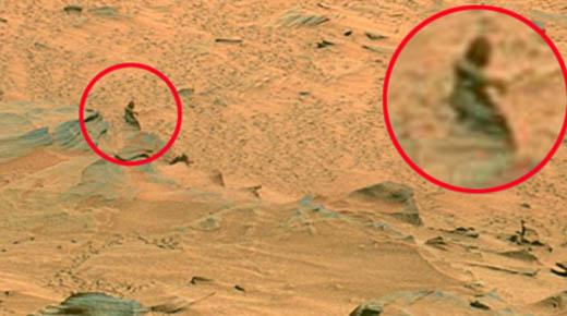Testigo de la NASA vío a dos individuos en la superficie de Marte acercandose al explorador Vikingo en 1979