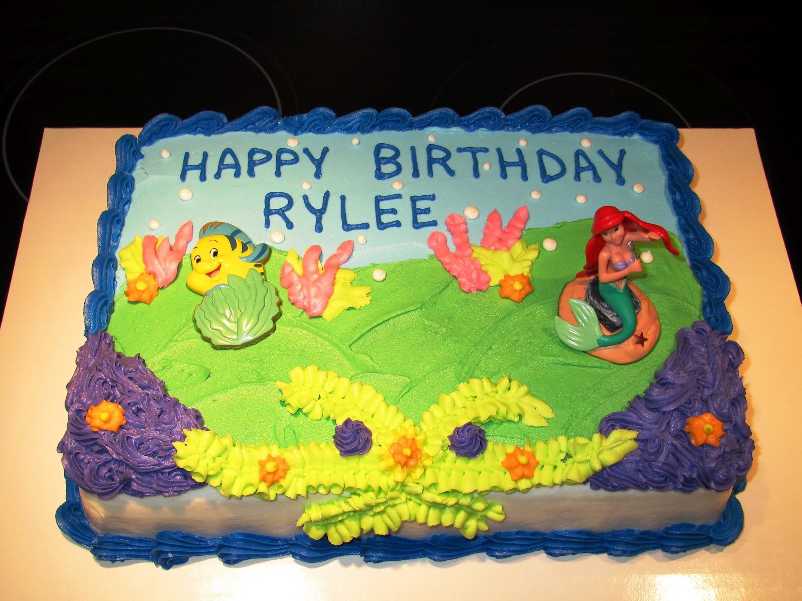 The Ozinga Outlook The Little Mermaid Ariel Birthday Cake