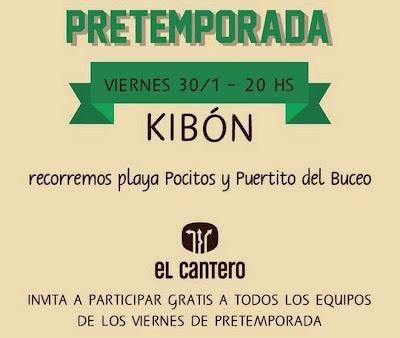 Entrenamiento gratuito de pretemporada de El Cantero en Kibón (vi 30/ene/2015)
