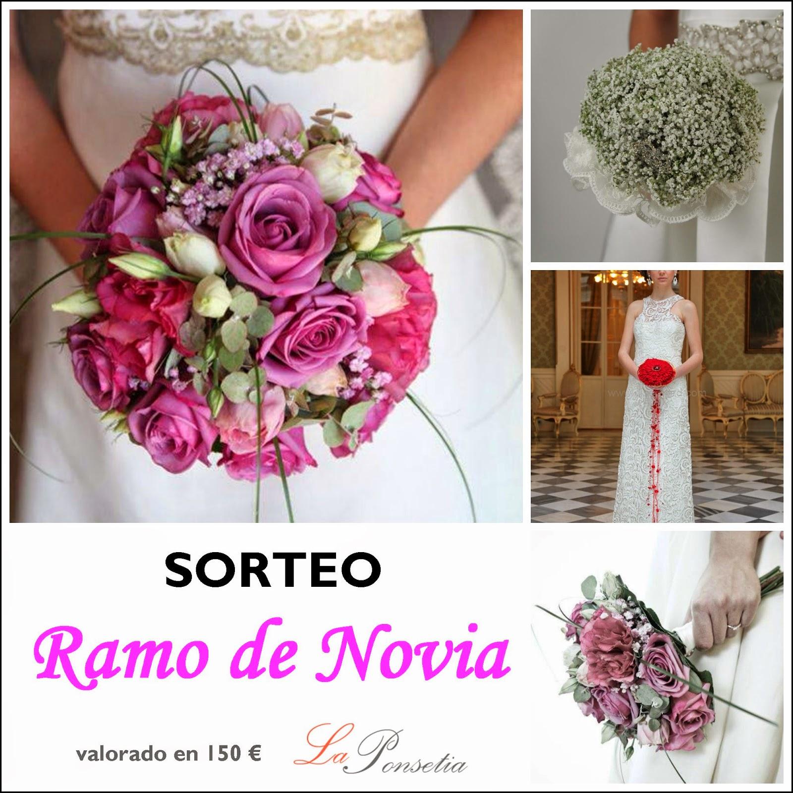 sorteo ramo de novia floristeria la ponsetia madrid blog bodas mi boda gratis