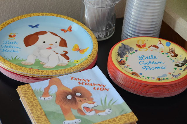 Golden Book Bookworm Birthday Party Decorations